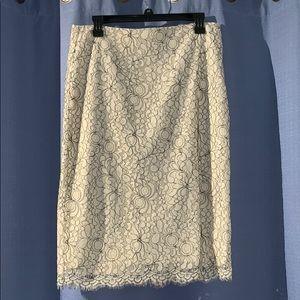 LOFT Lace Pencil Skirt